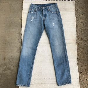 NWT 501 Levi's button fly light distressed jeans